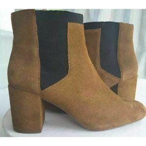 Zara Womens Ankle Boots Booties Brown Black Block